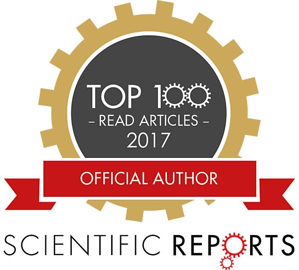 論文が2017年Sci. Rep.誌の年間アクセスランキングTop100(物理分野)に選出